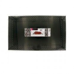 Plat dentelle rectangulaire noir 22 x 37 cm