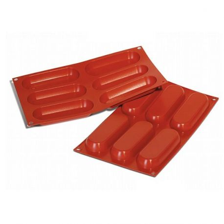 Moule silicone 6 rectangles arrondis