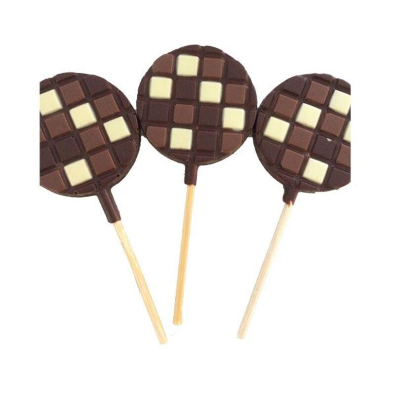 Moule sucette chocolat ronds (x2)