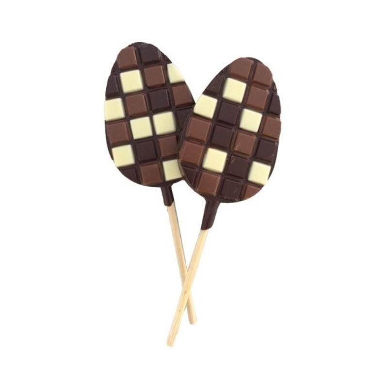Moule sucette chocolat oeufs (x2)