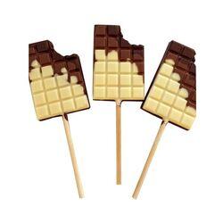 Moule sucette chocolat tablettes (x2)
