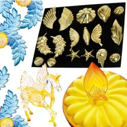 Coffret 17 empreintes décors en sucre Magyrelief
