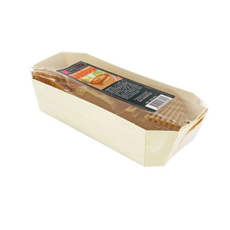 Moule de cuisson pain bois 25 x 11,5 x 7 cm