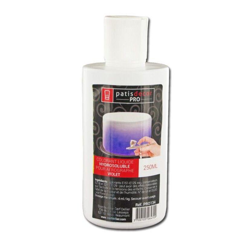 colorant alimentaire violet liquide professionnel 250 ml cerf dellier. Black Bedroom Furniture Sets. Home Design Ideas