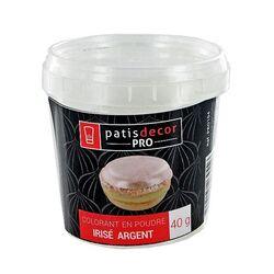 Colorant alimentaire poudre irisé Argent 40 g