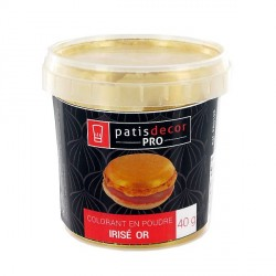 Colorant alimentaire poudre irisé doré 40 g