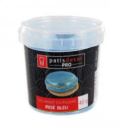 Colorant alimentaire poudre irisé Bleu 40 g