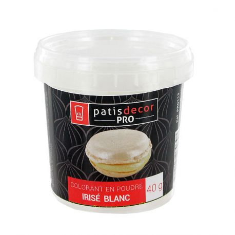 Colorant poudre alimentaire irisé Blanc 40 g