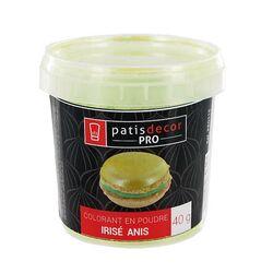 Colorant poudre irisé Vert Anis 40 g