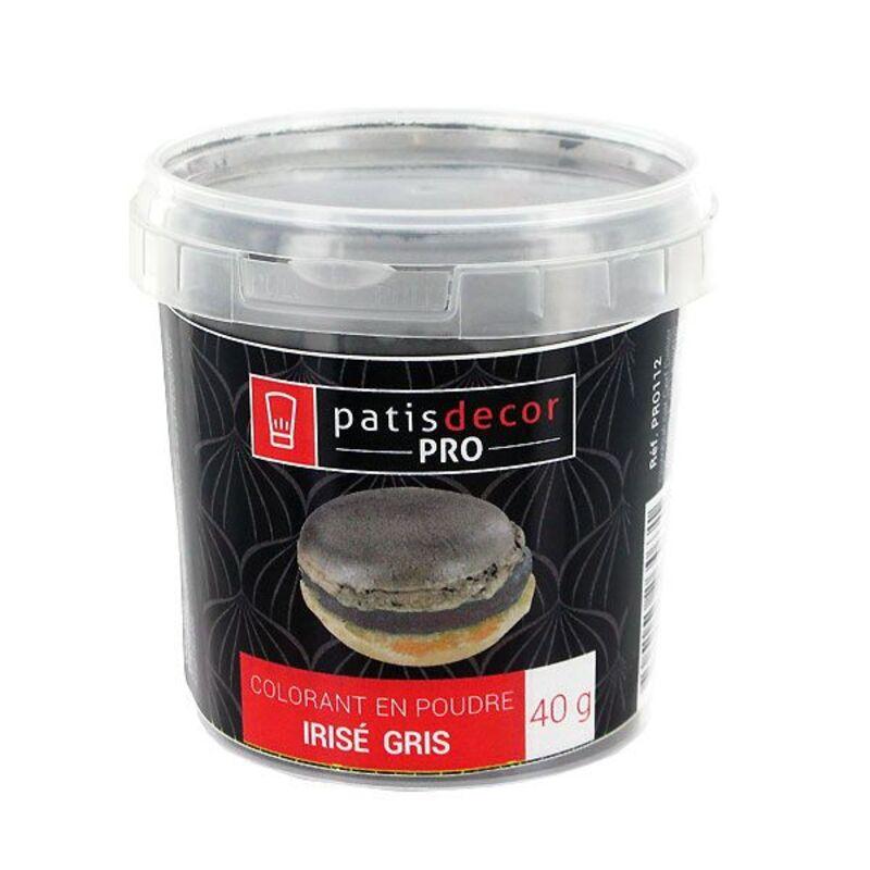 Colorant poudre alimentaire nacré Gris 40 g