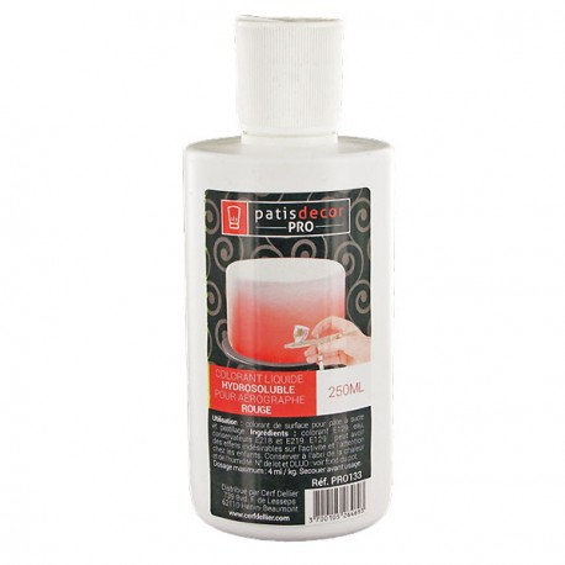 Colorant alimentaire liquide Rouge professionnel 250 ml