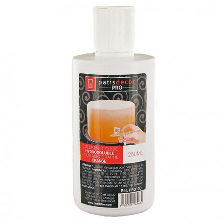 Colorant alimentaire liquide orange professionnel 250 ml