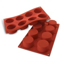 Moule silicone 8 cylindres 6 cm