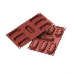 Moule silicone 7 savarins 8,2 cm