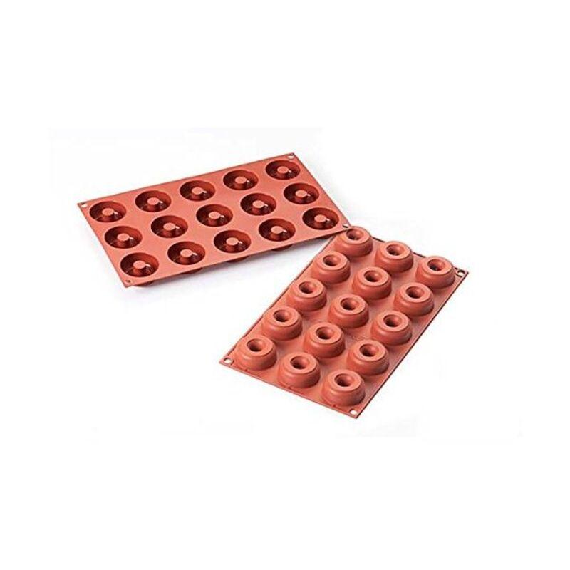 Moule silicone 15 mini donuts 4,5 cm