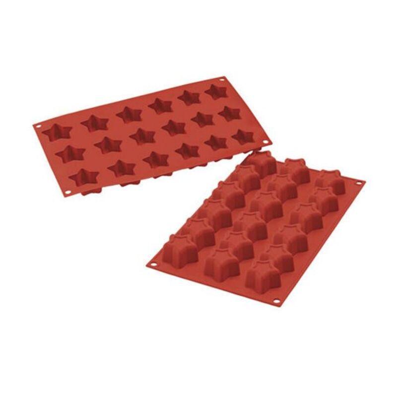 Moule silicone 18 étoiles 4,5 cm