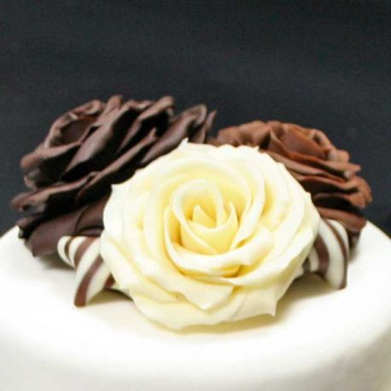 """Pack ingrédients tuto """"Rose en pâte de chocolat Chocoflex"""""""