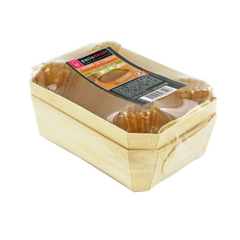 Barquette de cuisson pain bois 14,5 cm (x2)
