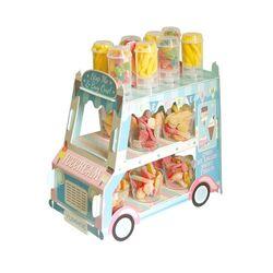 Présentoir gateaux bonbons ice cream bus