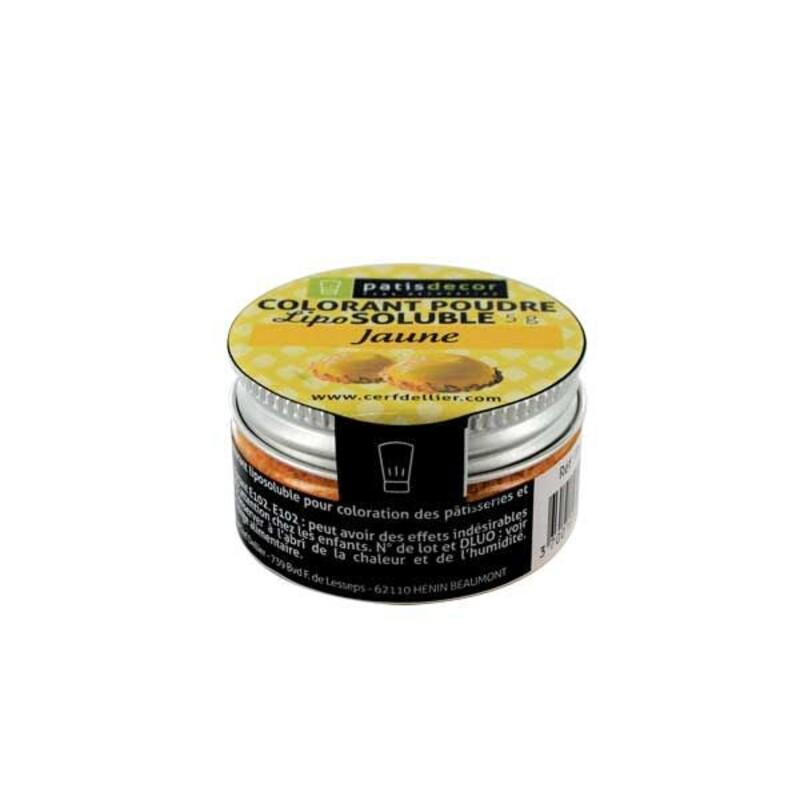 Colorant alimentaire liposoluble poudre jaune 5 g