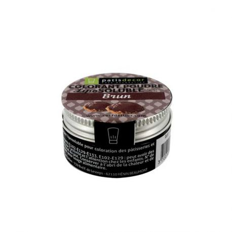 Colorant alimentaire liposoluble poudre brun 5 g
