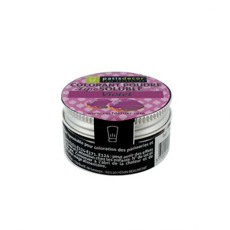 Colorant alimentaire liposoluble poudre violet 5 g