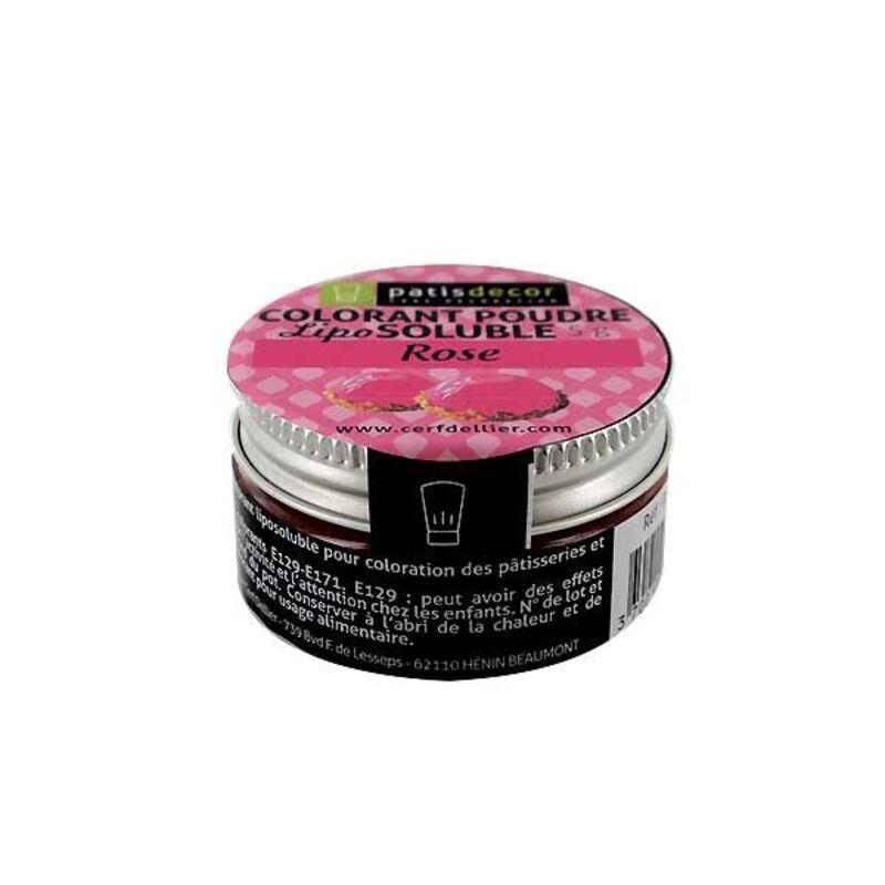 Colorant alimentaire liposoluble poudre rose 5 g