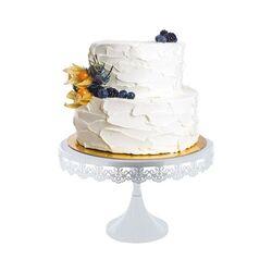 Présentoir gâteau rond brodé 30 cm