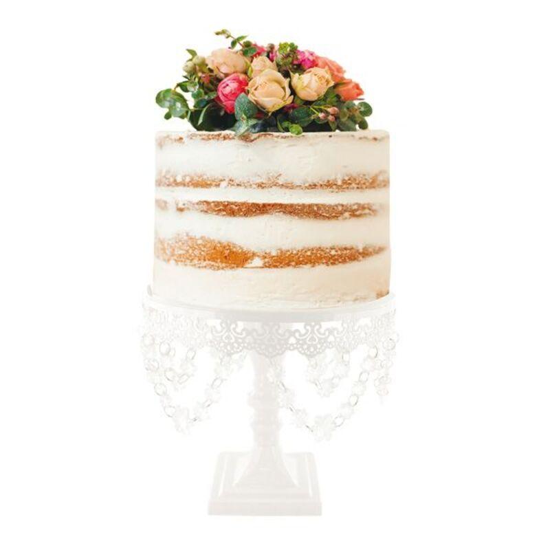Présentoir gâteau rond diamants 25 cm