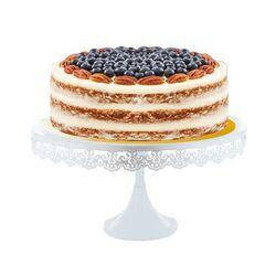 Présentoir gâteau broderie 35 cm