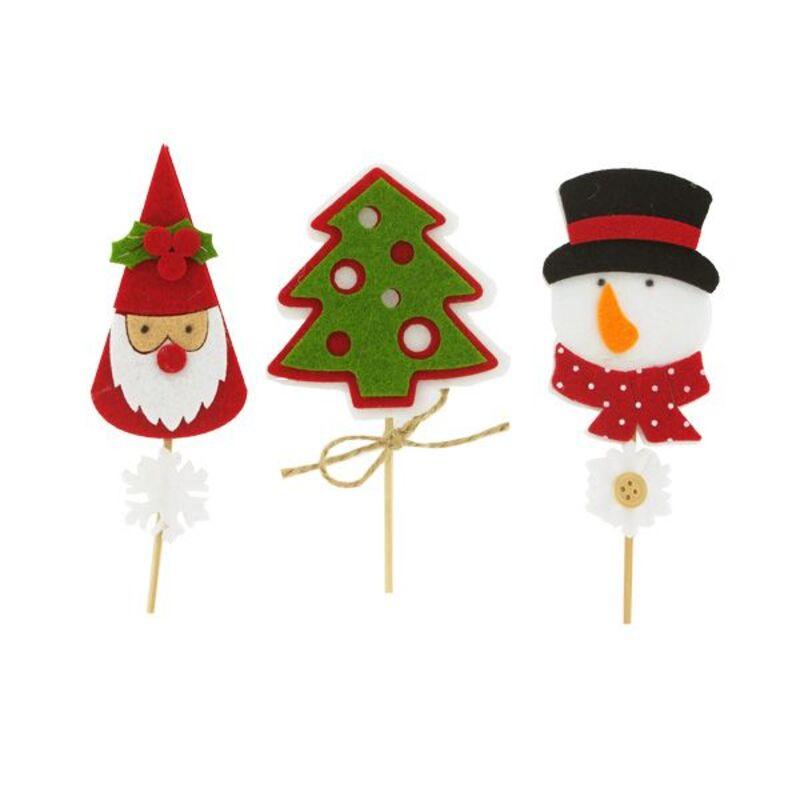 3 décors de Noël assortis en feutrine thème 1