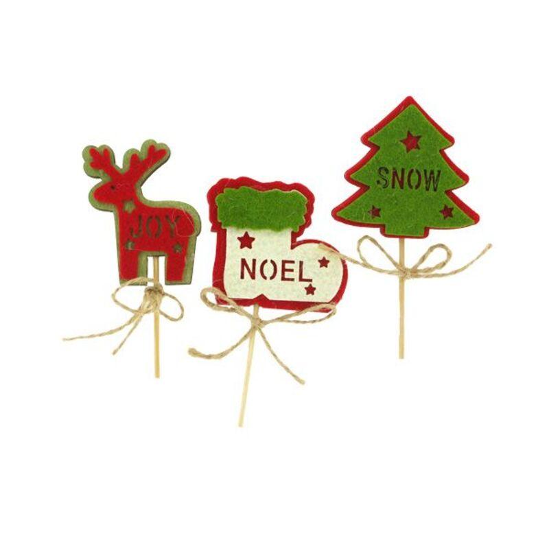 3 décors de Noël assortis en bois thème 2