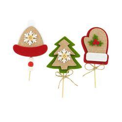3 décors de Noël assortis en feutrine thème 3
