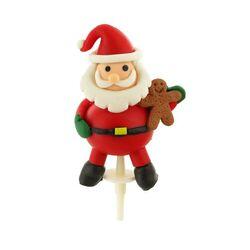 Père Noël debout résine sur pique