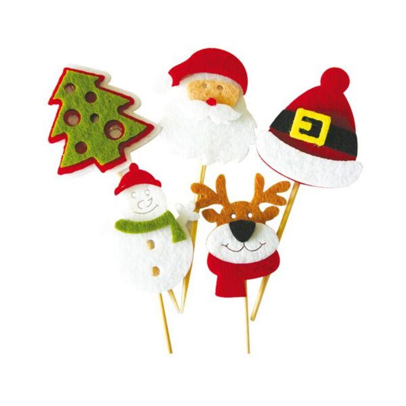 Décors de Noël en feutrine thème 1 (x10)