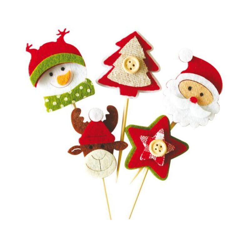 Décors de Noël en feutrine thème 2 (x10)