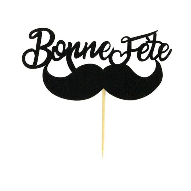 """Décors sur pique """"Bonne Fête"""" (x2)"""