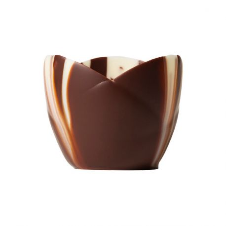 Coupelle chocolat marbré Crocus (x24)