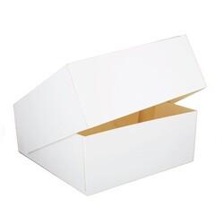 Boîte à entremets blanche h. 8 cm