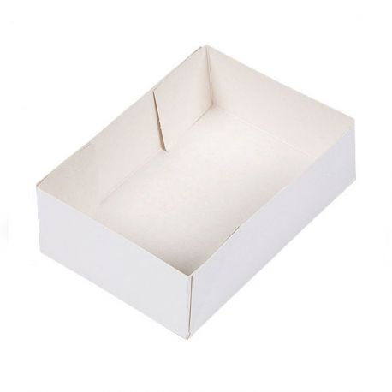 Caissette pâtissière blanche (x 100)