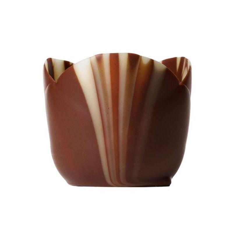 Coupelles chocolat marbré petits fours (x38)