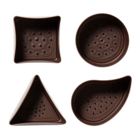 Assortiment de coupes en chocolat noir (x40)