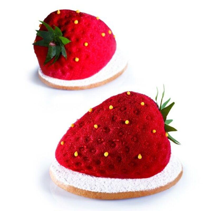 Moule silicone 3D fraises