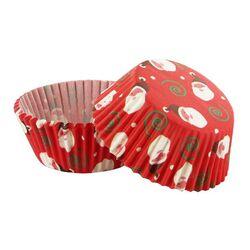 Caissette cupcake rouge Père Noël (x 50)