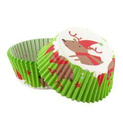 Caissette cupcake verte Renne (x 50)