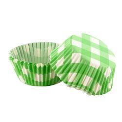 Caissette cupcake vichy vert (x 50)
