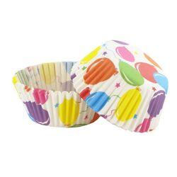 Caissette cupcake ballons d'anniversaire (x 50)