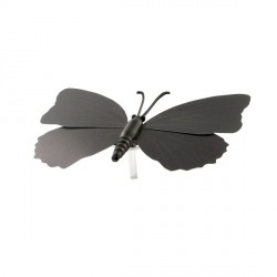 Papillons noirs aimantés assortis (x3)