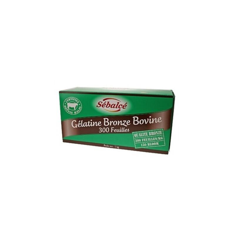 Gélatine halal en feuilles qualité Bronze 1 kg
