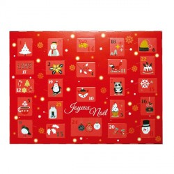Kit calendrier de l'avent à fabriquer rouge